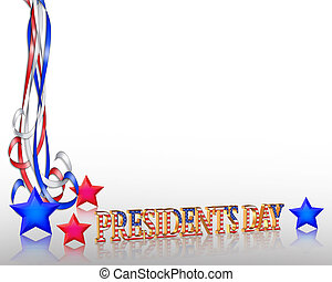presidentes, gráfico, borda, dia