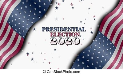 Banner on the 2020 presidential election in the United States of America