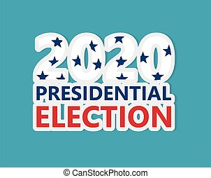 presidential election 2020 in United States concept- vector illustration