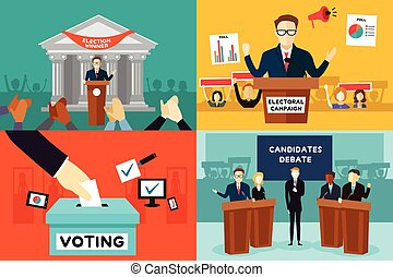 A vector illustration of presidential election poster