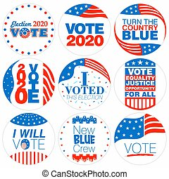 Presidential Election campaign badges 2020