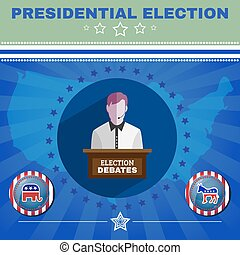 Presidential Election Debates Elephant versus Donkey