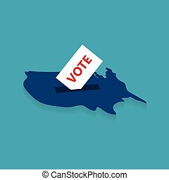 presidential election in United States concept- vector illustration
