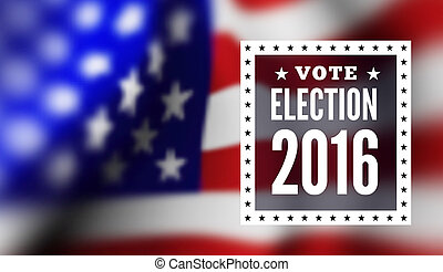 Presidential election in USA. illustration with flag
