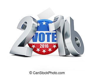 presidential election USA in 2016 white background 3D...