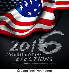 Presidential elections in the United States. Illustration...