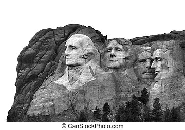 Presidential memorial - Isolated Mount Rushmore National...