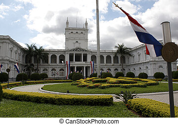 Presidential palace in Asuncion, Paraguay