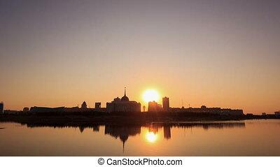 Presidential Palace on the waterfront. Astana, Kazakhstan....