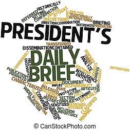 president's, 毎日, 報告書