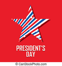 President's day - abstract president's day background with...