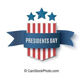 Presidents Day background template.