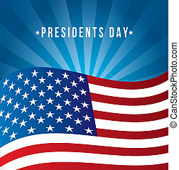 presidents day background, united states flag. vector...