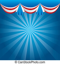 presidents day background, united states. vector...