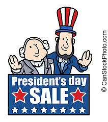 Presidents Day Banner - Cartoon - Presidents Day Sale Banner...