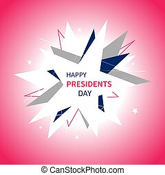 Presidents Day banner in abstract style