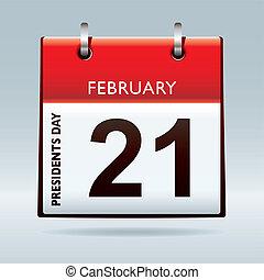 Presidents day calendar