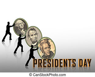 Presidents Day graphic - Presidents Day border or background...