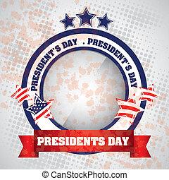 President's Day in USA - Poster illustration of President's...