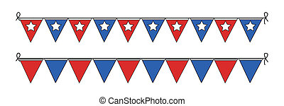 Presidents Day Paper Flag Vector