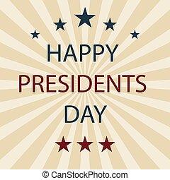 Presidents Day retro poster. Eps10. Vector illustration.
