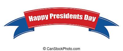 Presidents Day Ribbon Banner Vector