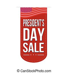 Presidents Day sale banner design over a white background,...