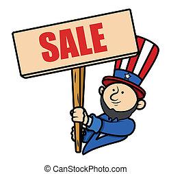 Presidents Day Sale Cartoon Vector