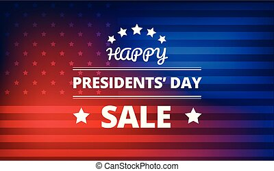 Presidents Day Sale vector background - Presidents Day Sale...