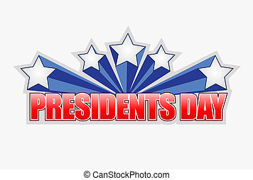 presidents day sign illustration design graphic artwork