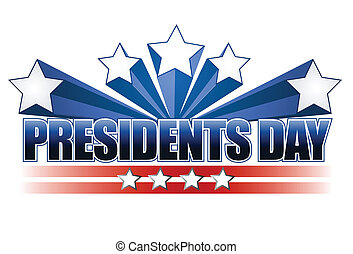 presidents day sign isolated over a white background