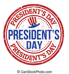 Grunge rubber stamp with the text Presidents Day written inside, vector illustration