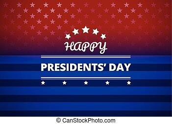 Presidents Day USA background - vector Illustration