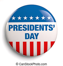 Presidents' Day USA badge isolated.