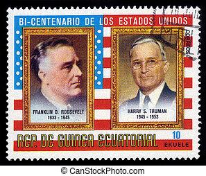 presidents F. D. Roosevelt and H. Truman - EQUATORIAL GUINEA...