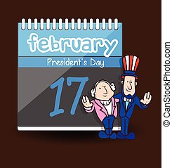 president%u2019s, -, caractère, jour, dessin animé