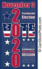 presidenziale, elezione, 2020