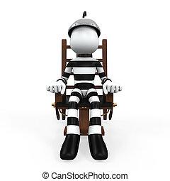 preso, silla, eléctrico