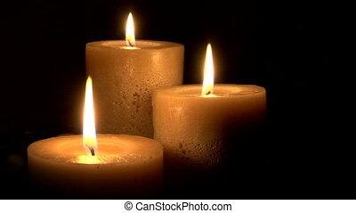 presque, bougies, eteint