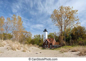 Presque Isle lighthouse, built in 1872