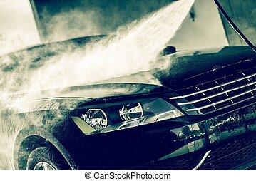 pressão alta, água, lavagem carro