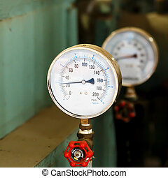 pressão, Fábrica, medidor