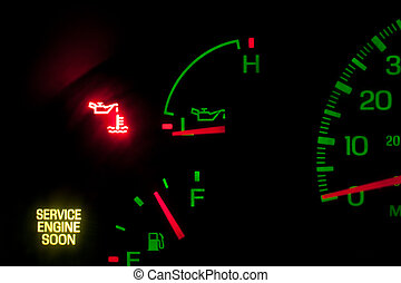 pressão, motor, serviço, óleo