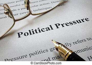 pressão, político