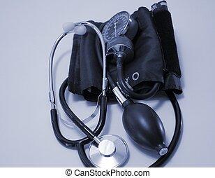pressão, sangue, equipamento