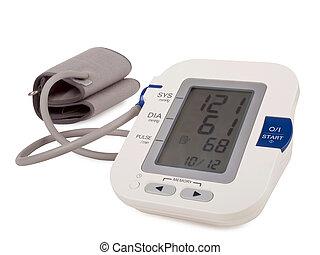 pressão, sangue, monitor