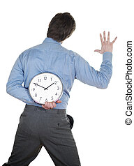 pressão, tempo