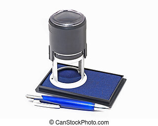 Press and ink pad.