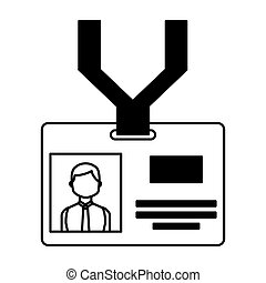 Press badge id isolated icon