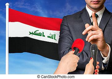 Press conference in Iraq